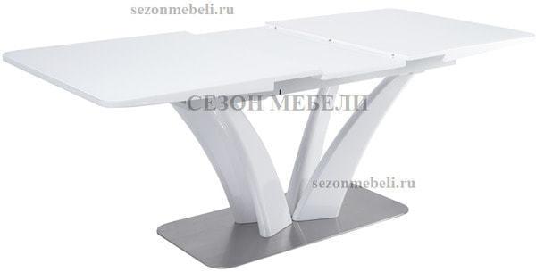 Стол FREYA 160 WHITE GLASS белый глянец (фото, вид 1)