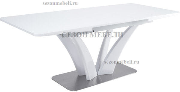 Стол FREYA 160 WHITE GLASS белый глянец (фото, вид 2)
