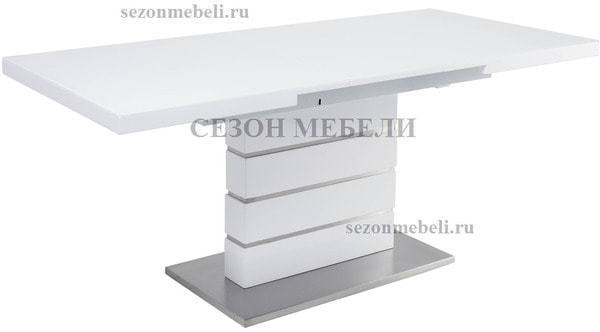 Стол QUADRO 140 WHITE GLASS белый глянец (фото, вид 3)