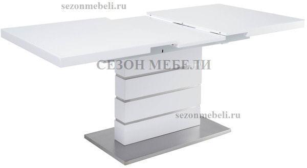 Стол QUADRO 140 WHITE GLASS белый глянец (фото, вид 2)