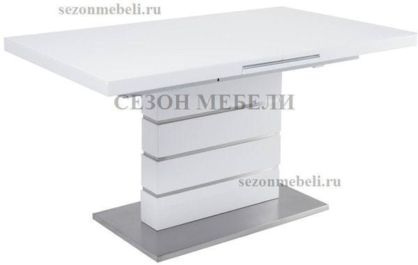 Стол QUADRO 140 WHITE GLASS белый глянец (фото, вид 1)