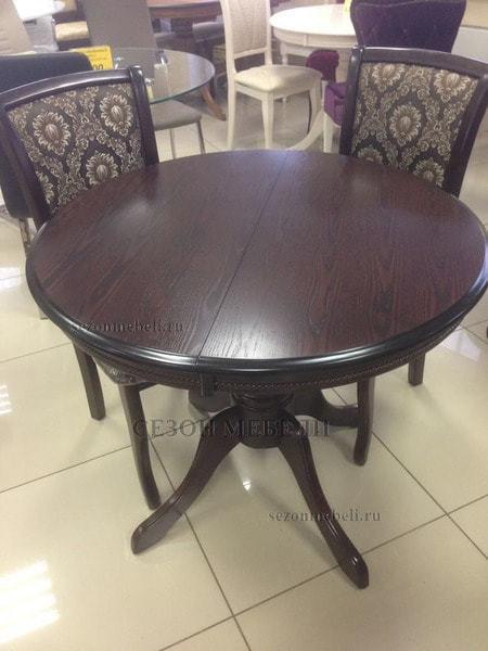 Стол TS Olivia OL-T4EX(AV) Dark Walnut D106 (фото, вид 3)