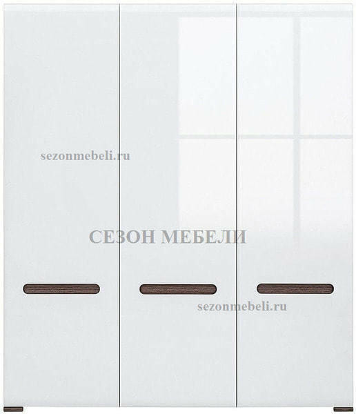Шкаф Ацтека SZF3D/21/18 белый/белый блеск (фото, вид 1)