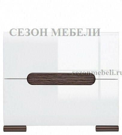 Тумба прикроватная Ацтека KOM2S/4/5 белый/белый блеск (фото, вид 1)