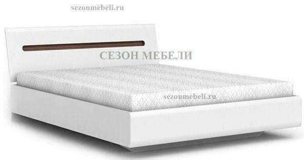 Кровать Ацтека LOZ90,140,160,180х200 белый/белый блеск (фото, вид 1)