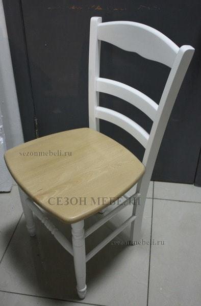 Стул PALMA 43D WHITE / WOOD SEAT (белый/дерев. сид. рустик) (фото, вид 2)