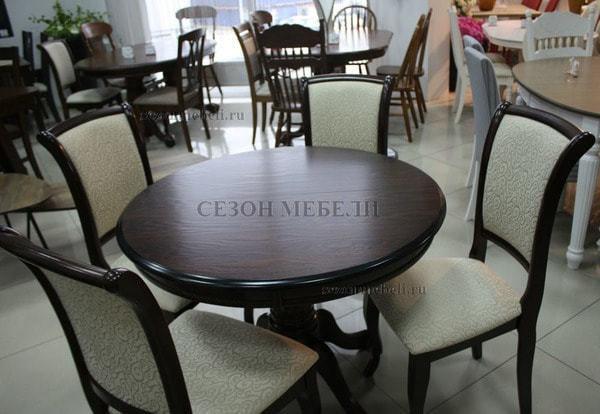 Стол TS Olivia DM-T4EX4(AV) Dark Walnut D90 (фото, вид 5)