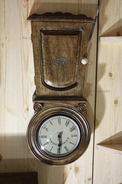 Часы колониальные с ключницей C-2632 (фото, вид 5)