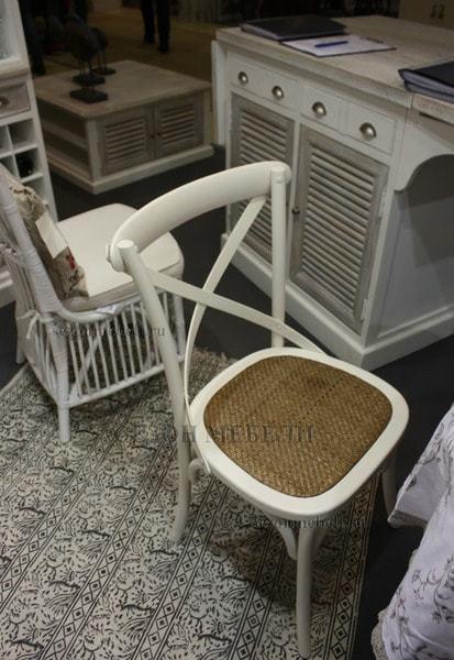 Стул Cross Chair (mod.CB2001) Белый/ Черный (фото, вид 2)