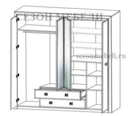 Шкаф Коен SZF4D2S ясень снежный/ сосна натуральная (фото, вид 1)