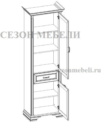 Шкаф - пенал Монако (Monako) 2D1S (фото, вид 1)