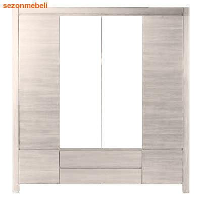 Шкаф с 2 зеркалами Август SZF 6D2S (фото, вид 1)
