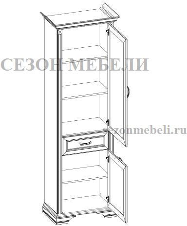 Шкаф с витриной Монако (Monako) 1V1D1S (возможна подсветка) (фото, вид 1)
