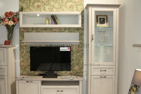 Шкаф с витриной Монако (Monako) 1V1D1S (возможна подсветка) (фото, вид 2)