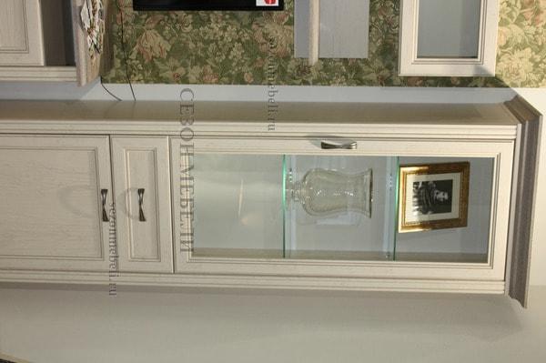 Шкаф с витриной Монако (Monako) 1V1D1S (возможна подсветка) (фото, вид 3)