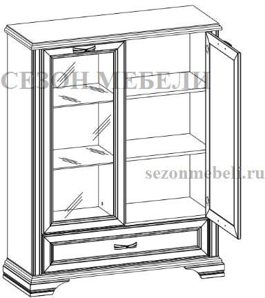 Шкаф с витриной Монако (Monako) 1V1D1SL (возможна подсветка) (фото, вид 1)