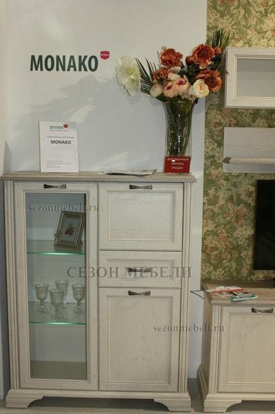 Шкаф с витриной Монако (Monako) 1V2D1S (возможна подсветка) (фото, вид 1)