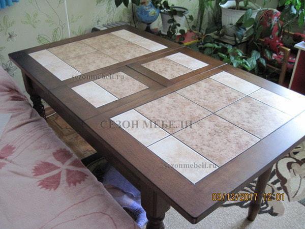 Стол LT T13301 DERBY BROWN #K229/ плитка 2 тона (фото, вид 5)