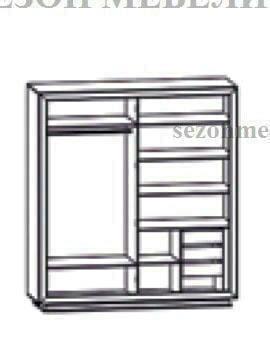 Шкаф 4-дверный Мальта (Malta) SZF4D (фото, вид 1)