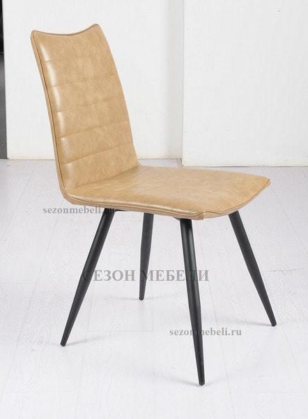 Стул BLOOM beige бежевый винтажный экокожа (фото, вид 1)