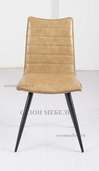 Стул BLOOM beige бежевый винтажный экокожа (фото, вид 2)
