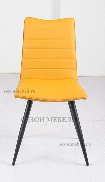 Стул BLOOM yellow желтый экокожа (фото, вид 1)