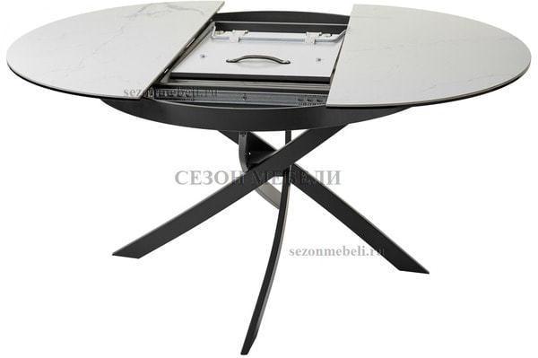 Стол ORBIT D110 мрамор/графит (фото, вид 1)