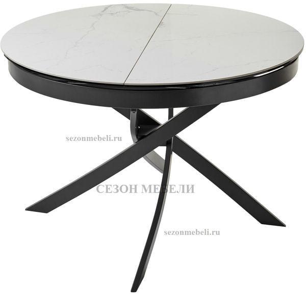 Стол ORBIT D110 мрамор/графит (фото, вид 2)
