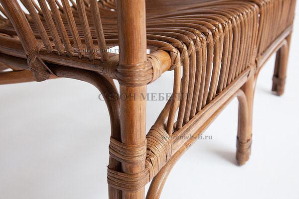 Комплект для отдыха New Bogota (диван + 2 кресла + стол со стеклом) (фото, вид 3)