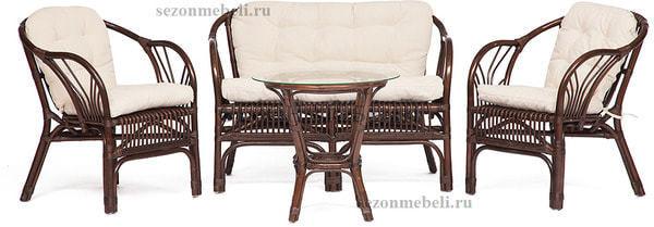 Комплект для отдыха New Bogota (диван + 2 кресла + стол со стеклом) (фото, вид 11)