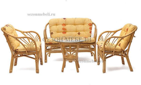 Комплект для отдыха New Bogota (диван + 2 кресла + стол со стеклом) (фото, вид 21)