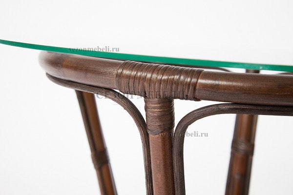 Комплект для отдыха Sonoma (Сонома) (стол круглый со стеклом+2 кресла+диван) (фото, вид 8)