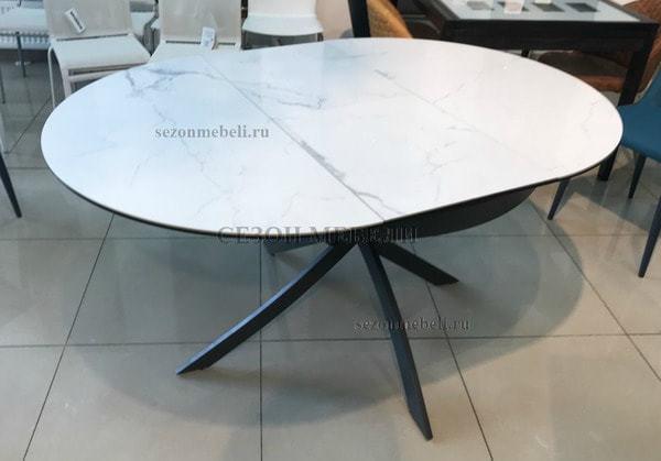 Стол ORBIT D110 мрамор/графит (фото, вид 3)