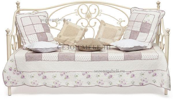 Кровать Jane (Джейн) античный белый (фото, вид 1)