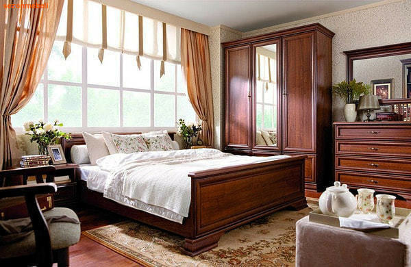 Кровать Кентаки LOZ140/160/180x200 каштан (фото, вид 1)