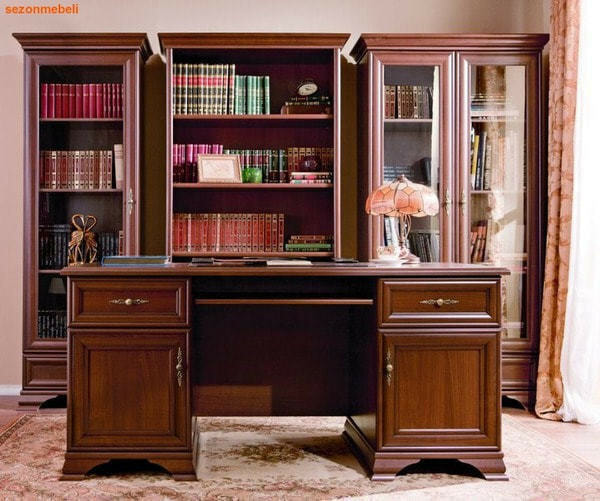 Стол письменный Кентаки BIU2D2S каштан (фото, вид 1)