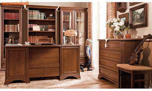 Стол письменный Кентаки BIU2D2S каштан (фото, вид 2)