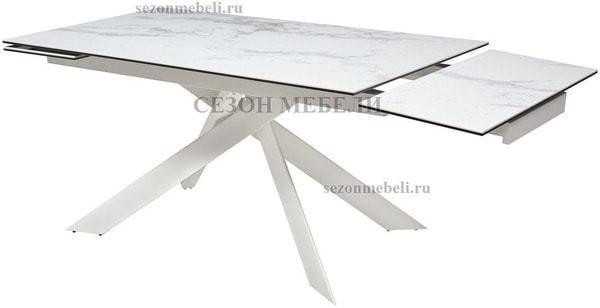 Стол SPYDER 160 KL-99 итальянская керамика/ белый каркас (фото, вид 1)