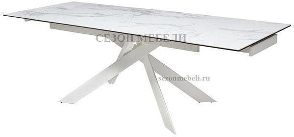 Стол SPYDER 160 KL-99 итальянская керамика/ белый каркас (фото, вид 2)