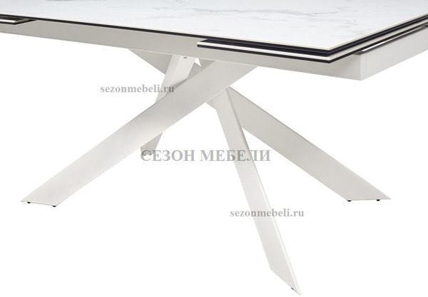 Стол SPYDER 160 KL-99 итальянская керамика/ белый каркас (фото, вид 3)