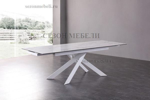 Стол SPYDER 160 KL-99 итальянская керамика/ белый каркас (фото, вид 5)