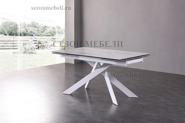Стол SPYDER 160 KL-99 итальянская керамика/ белый каркас (фото, вид 6)