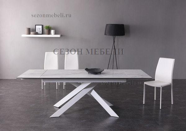 Стол SPYDER 160 KL-99 итальянская керамика/ белый каркас (фото, вид 7)