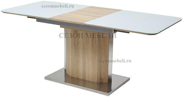 Стол LUXOR WHITE/ SONOMA (фото, вид 1)