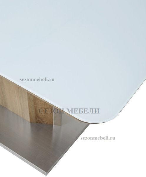 Стол LUXOR WHITE/ SONOMA (фото, вид 2)