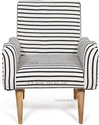 Кресло Sondrio (black/white stripes). Вид 2