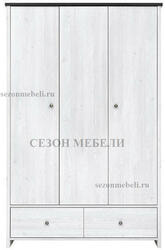 Шкаф платяной Порто SZF3D2S. Вид 2