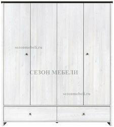 Шкаф платяной Порто SZF4D2S. Вид 2