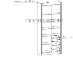 Шкаф комбинированный Салерно REG3D3S. Вид 2