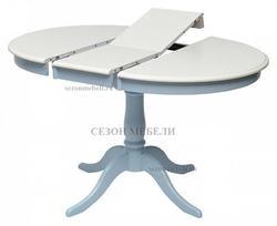 Стол TS Siena (SA-T4EX) Ivory white/ Blue. Вид 2